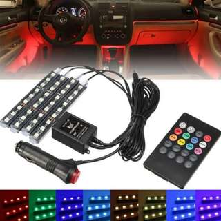 5050SMD36 / 48 / 72 LEDs Car RGB LED Strip Light LED Strip Lights Colors Car Styling Decorative Atmosphere Lamps Car Interior Light With Remote Controller