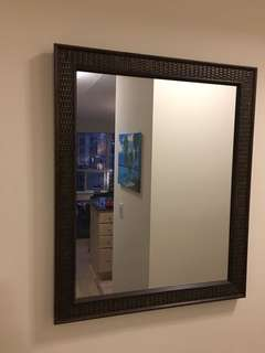 Wall Mirror with Brown/Gold Frame