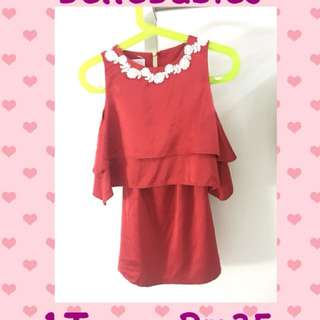 Red Sleeveless Baju Kurung