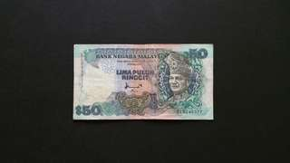 1995 Malaysia RM50 Currency Banknote