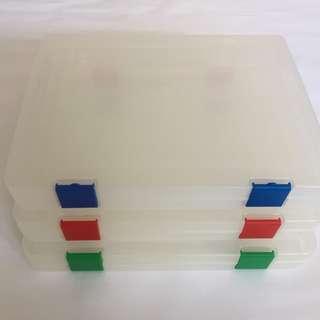 A4 Plastic File Case (31cm x 23.5cm x 4 cm) - 3 piece available