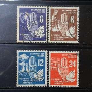 [lapyip1230] 前東德 1950年 和平運動 Set Used