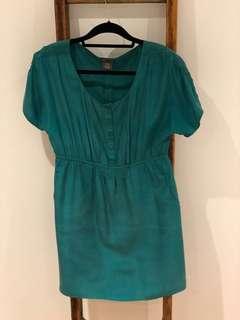 Silk dress - size XS/S