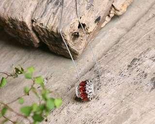 纯天然石榴石转运珠吊坠!