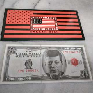 Billion Dollar note Commemorative US JFK bill