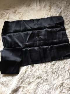 Cot Size Black Silk Pillow Slips