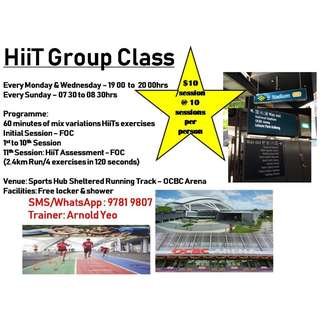 HiiT Group Classes