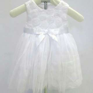 Bonnie Jean White Chiffon Baptismal Dress 500