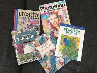 Assorted Creativity books