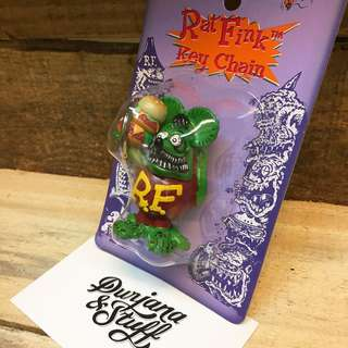 Rat Fink Hamburger Keychain