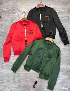 RED Gucci Bomber Jacket