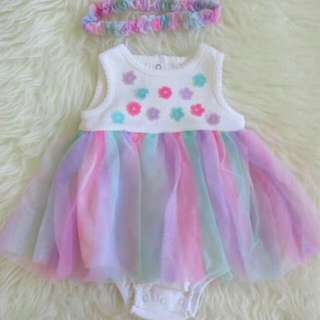 Little Me Tutu Dress with Head Band 450