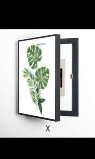 [Practical magic] Fuse Box Cover - Tropical Plants Painting