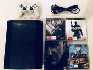 500GB PS3 with a controller and 4 games