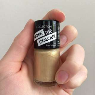 Fool's gold colour nail polish