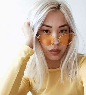NEW Catlyn Yellow Sunglasses