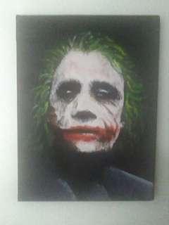 Acrylic Painting Joker : Batman The Dark Knight