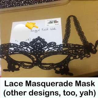 Lace Masquerade Mask design as per cover photo [for Prom Night, Wedding, Fashion Shows, Costume, Dance Party, Mask Events [uncle anthony] FOR MORE PICS & DETAILS, 👉 http://carousell.com/p/144921994