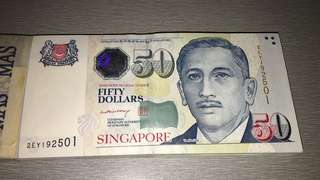😱Rare 100 pcs $50 signed by LHL 😱
