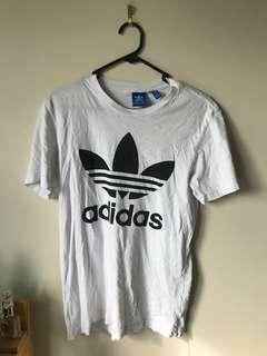 White and black Adidas t shirt