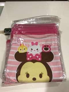 Tsum tsum drawstring pink