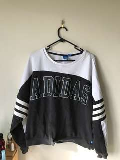 White and Black Adidas pullover
