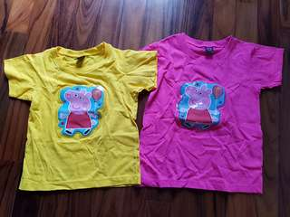 Peppa pig tshirt with light