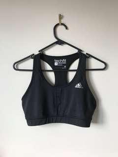 Black Adidas sports bra