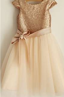 Flower Girl Dress/Bridesmaid dress-gold