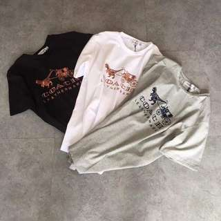 Coach 1941 REXY  2018 新款 恐龍馬車刺繡 短袖T恤