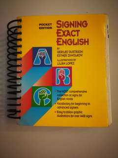 Sign Language pocket sized book