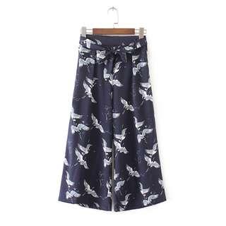 [BNWT] Zara Inspired Prints Culottes Pants
