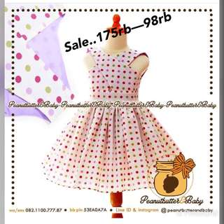 Sale.. polka white dress