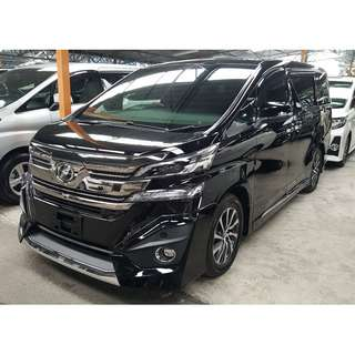 TOYOTA VELLFIRE 3.5 EXECUTIVE LOUNGE FULLY LOADED (A) OFFER UNREG 2017