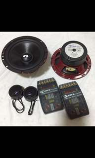 """CDT Audio CL-6 6.5"""" Components Speaker. Car Radio And Audio System"""