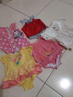 二手平安長大嬰兒衣5件