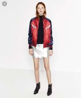 Zara Embroidered Bomber Jacket (Hina Matsuri)