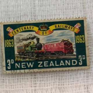 New Zealand Old Stamp - Train