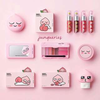Preorder Korea The Face Shop x Kakao Friends Sweet Apeach Collection