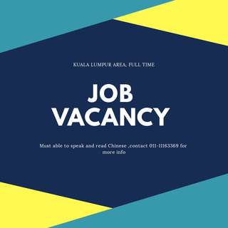 KL AREA Admin Assistant/ Receiptionist (FULL TIME)