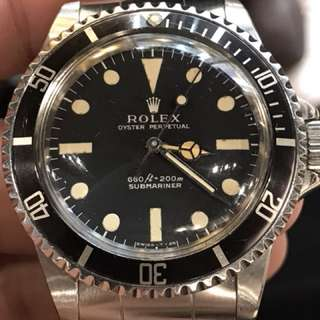 Rolex 5513全原裝正版沒有翻寫面及夜光SN398xxxx 七十年代全對期 連93150帶580錶耳 靚殻