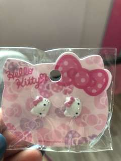 Authentic Sanrio hello kitty ear stud