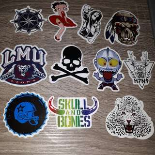 Set 9 stickers for car.laptop.motor.waterproof