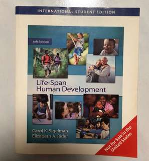 Life-Span Human Development Textbook