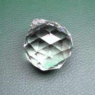 吊燈水晶球擺設/掛飾(見描述) Faceted crystal ball