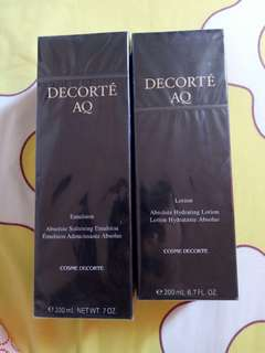 Cosme Decorte AQ Lotion 200ml & Emulsion 200ml