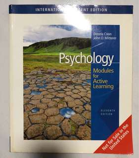 Psychology: Modules for Active Learning Textbook