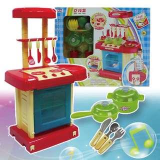 大桃園育樂百貨 / 手提式聲光音樂廚具台組008-56(藍色)