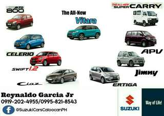 Suzuki Fuel Efficient Cars Low Downpayment High Discount Call or Text 0995-821-8543 / 0919-202-4955