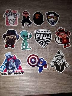 Set 11 stickers for car.laptop.motor.waterproof